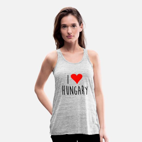 Love Tank Tops - Love i love hungary - Women's Flowy Tank Top grey marble