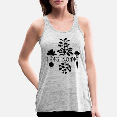 I Dig No Dig! (Silhouette) - Women's Flowy Tank Top