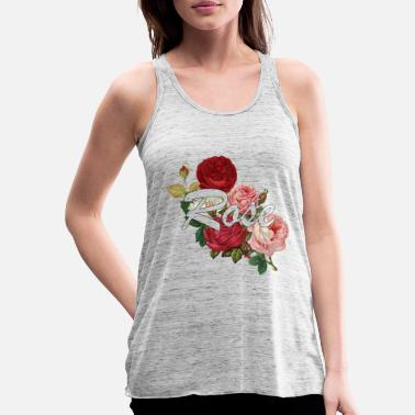Rose Rose roses - Women's Flowy Tank Top