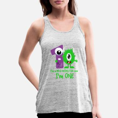 1st Birthday Funny Little Monster 1st Birthday design - Women's Flowy Tank Top