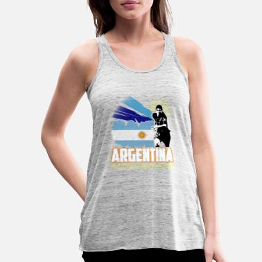 Officialbrands World Soccer Argentina / Football Love T-skjorte - Singlet med racerback for kvinner
