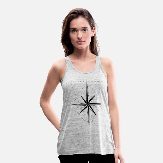 Star Tank Tops - compass - Women's Flowy Tank Top grey marble