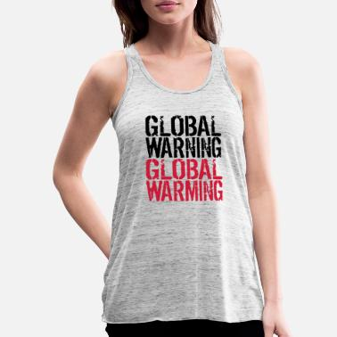 Global Global Warning - Global Warming - Canotta con taglio morbido donna