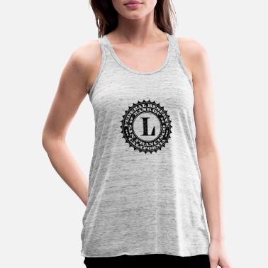 Federal Reserve United States one dollar bill fed seal L - Women's Flowy Tank Top