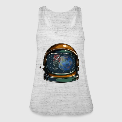 Astronaut helm with Santa Claus - Women's Tank Top by Bella