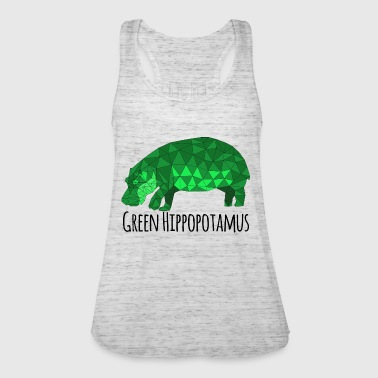 Green Hippopotamus - Women's Tank Top by Bella