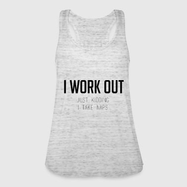 I WORK OUT - Women's Tank Top by Bella