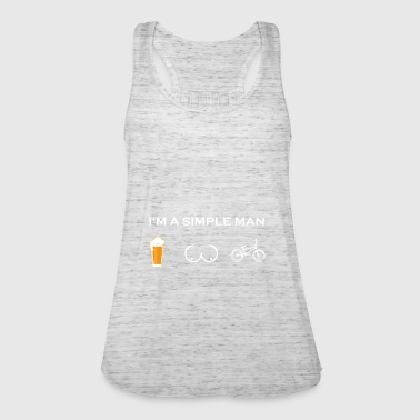 simple man like boobs beer beer tits bmx bmxer c - Women's Tank Top by Bella