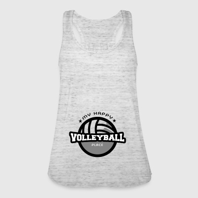 Min Happy Place Volleyball T skjorte gave - Singlet for kvinner fra Bella