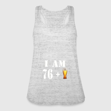 I am 76 plus a glass of beer - Women's Tank Top by Bella