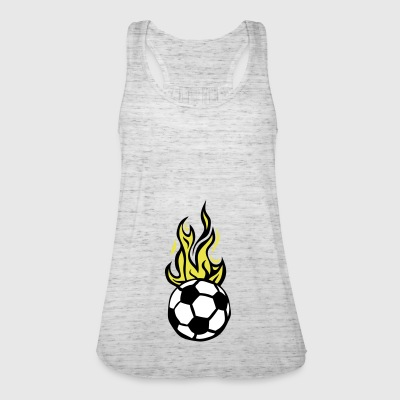soccer ball soccer flame fire flame - Women's Tank Top by Bella