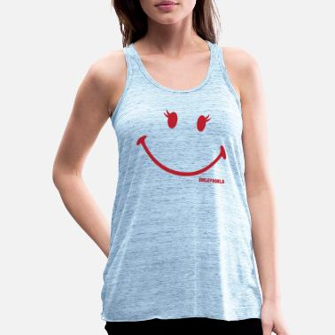 Officialbrands SmileyWorld - Glitter Eyelashes - Frauen Flowy Tanktop