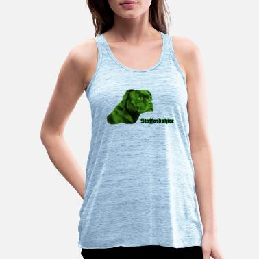 Bulldog Terrier Staffordshire, Staffbull, bulldog, terrier, dogs, - Women's Flowy Tank Top