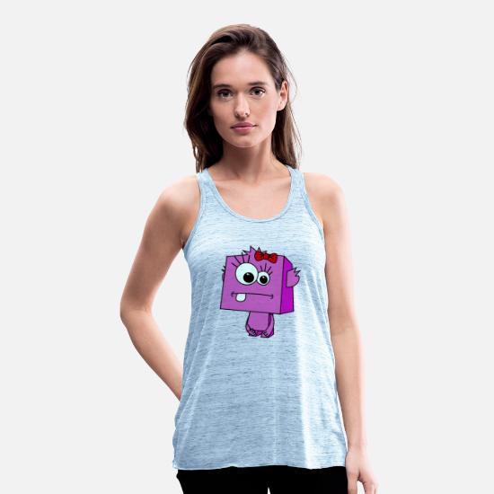 Trend Tank Tops - Monster rosa Schleife girly Girl - Frauen Flowy Tanktop Blau meliert