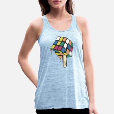 Rubik's Cube Ice Lolly - Women's Flowy Tank Top