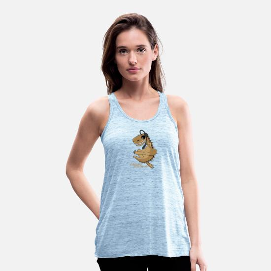 Agent Tank Tops - Dino Dragon Agent Dragon - Women's Flowy Tank Top blue marble