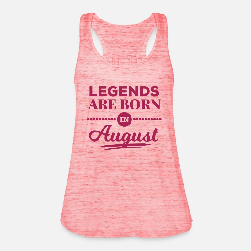August Tank Tops - legends are born in august birthday saying - Women's Flowy Tank Top red marble