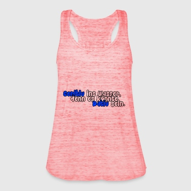 Genitive into the water (blue) - Women's Tank Top by Bella