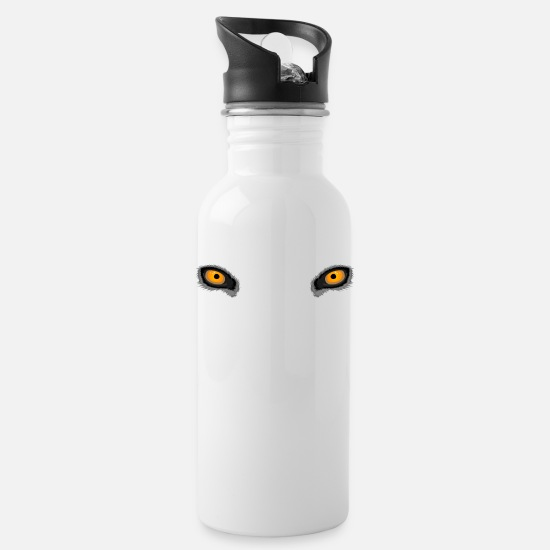 Full Moon Mugs & Drinkware - Yellow Deep Wolf Eyes - Water Bottle white