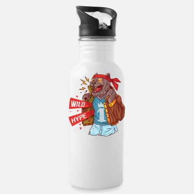 Masculinity Wolf with current attributes of masculinity - Water Bottle