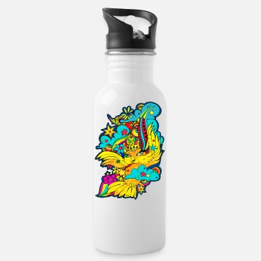 Bird Illustration Character Bird BIRD Illustration Rainbow - Water Bottle