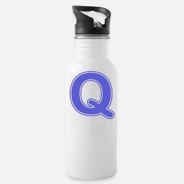 Alphabet - Letter - Q - Water Bottle