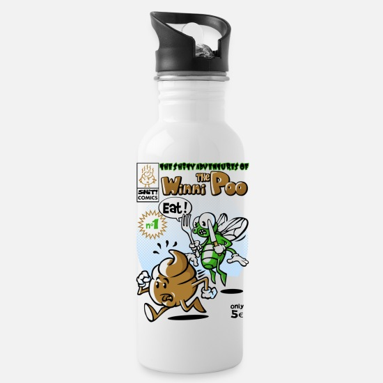 Comic Mugs & Drinkware - Shit comic - Water Bottle white