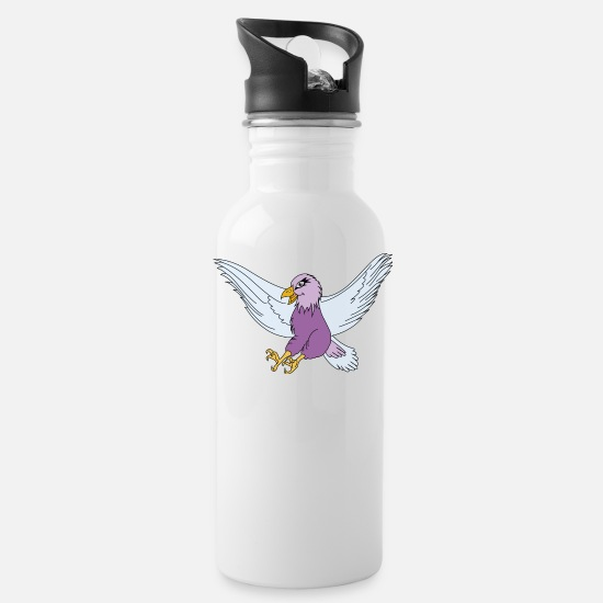 German Eagle Mugs & Drinkware - celestial and purple eagle - Water Bottle white