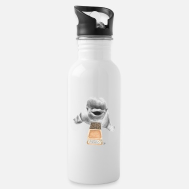 Recycling White Whale with Ice Cream Santwich - Water Bottle