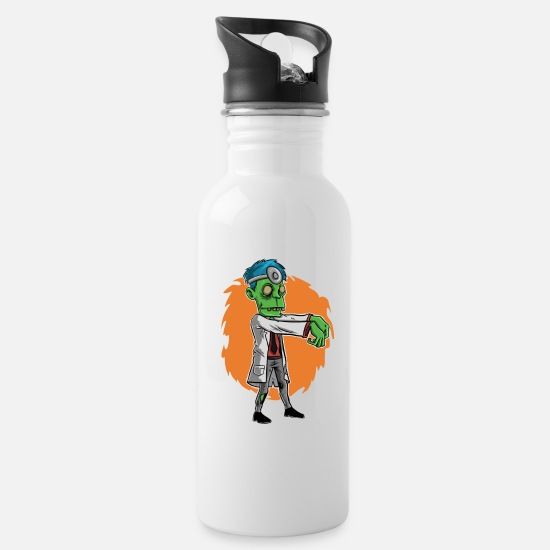 Zombie Apocalypse Mugs & Drinkware - Zombie doctor gift dentist doctor - Water Bottle white