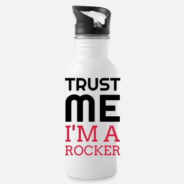 Rock N Roll Rock - Music - Metal - Punk - Rocker - Alcohol - Water Bottle