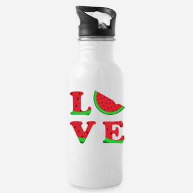 Typography Love Watermelon Typography Vegetable Gift - Drinkfles