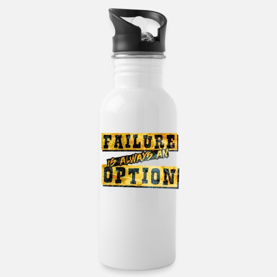 Quotes Mugs & Drinkware - Motivation Quote - Water Bottle white