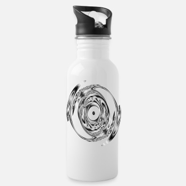 Pattern Black & white double sickle - Water Bottle