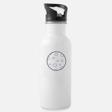 Celestial Bodies Moon space celestial body - Water Bottle