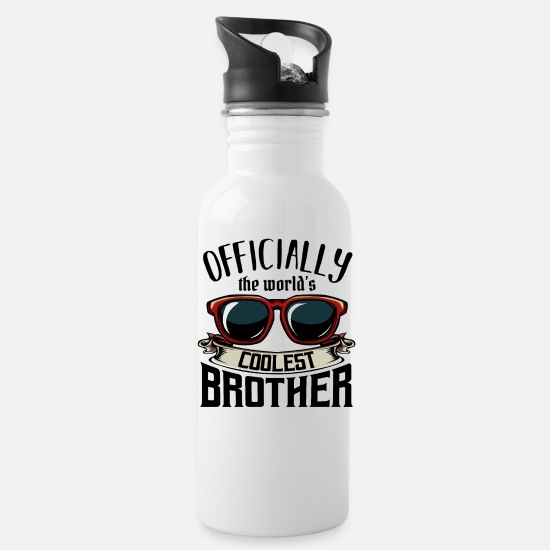 Brother Mugs & Drinkware - Brothers - Water Bottle white