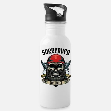 Jolly Roger Surrender The Booty Pirate Skull Pirate Gift - Drikkedunk