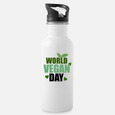 Prosit World Vegan Day Plant Tree Vegetar - Drikkeflaske