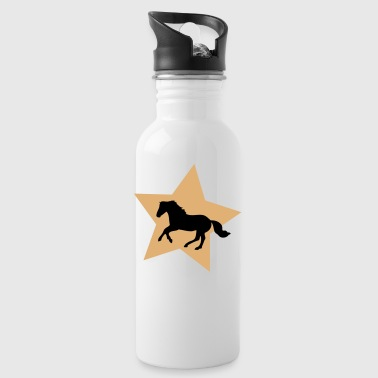 Galloping Horse on Gold Star - Bidon