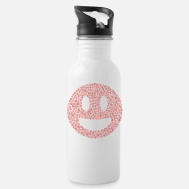 Snowflakes word cloud in grin old form (red) - Water Bottle