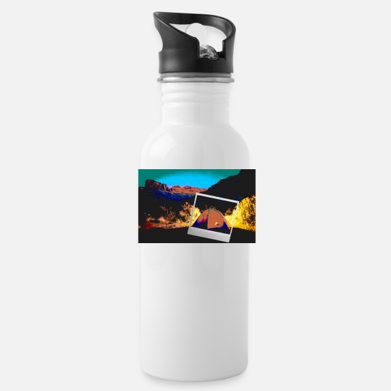 Outdoor Mugs & Drinkware - TENTS AMERICA OUTBACK DESERT SORRY IMAGE CAMERA - Water Bottle white