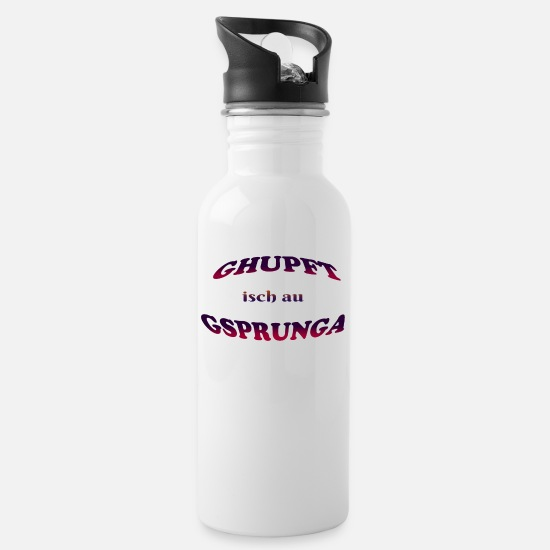 Birthday Mugs & Drinkware - Gupft isch au gsprunga - Water Bottle white