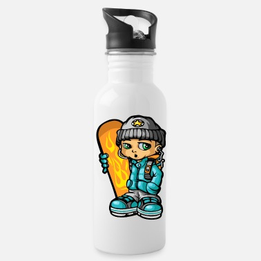 Mp3 Snowboarders and mp3 - Water Bottle