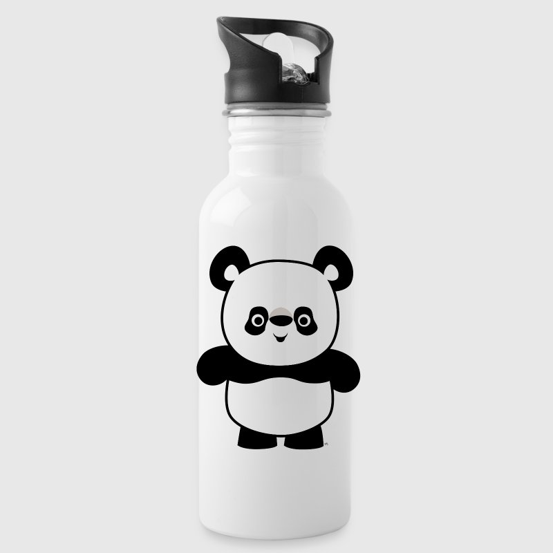 Cute Happy Cartoon Panda by Cheerful Madness!! - Water Bottle
