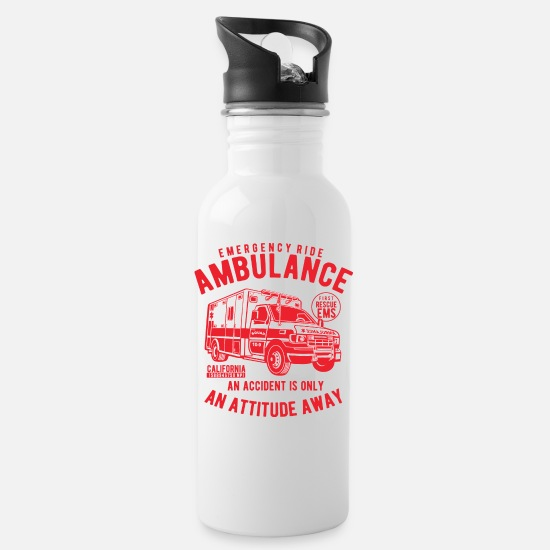 Salvation Mugs & Drinkware - Ambulance rescue ambulance First aid help - Water Bottle white