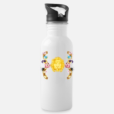 Baroque lion with flowers - Water Bottle