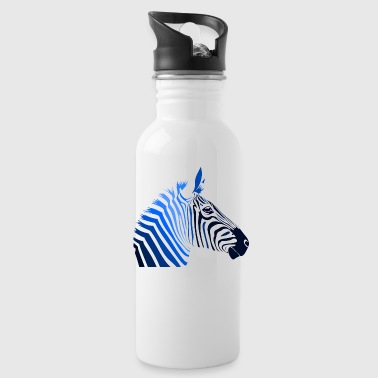 Zebra; Punk Zebra - Water Bottle