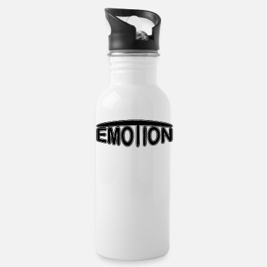 Emotions emoTion - zwart - Drinkfles