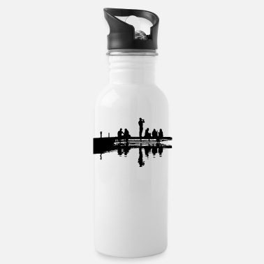 Dock Man at the dock - Water Bottle