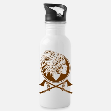 Indian Indian Native American - Water Bottle